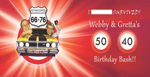 personalised birthday stubby holders